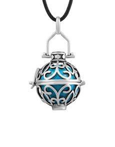 jewellery: Shiroko Harmony Bell Blue Cage Necklace!