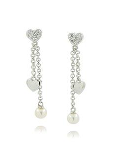 jewellery: Silver Fresh Water Pearl Earrings NJJT002!