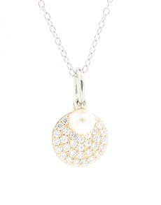 jewellery: Silver Round Fresh Water Pearl Necklace!