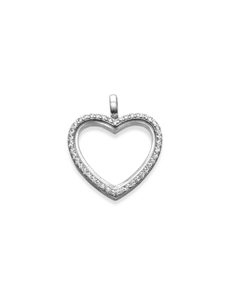 jewellery: Shiroko Silver Cubic Charm Heart Locket Pendant!