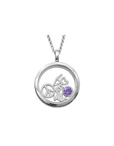 jewellery: Shiroko Silver Floating Charm Locket Pendant Set!