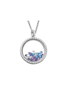 jewellery: Shiroko Silver Colour Burst Locket Pendant Set!