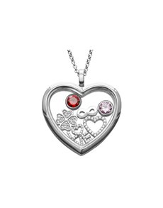 jewellery: Shiroko Silver Love Locket Pendant Set!