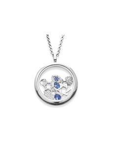 jewellery: Shiroko Silver Floating Charm Locket Necklace Set!