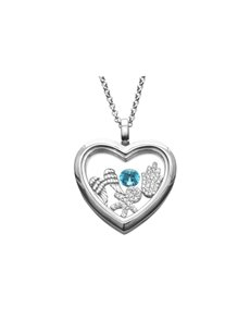 jewellery: Shiroko Silver Angel Wings Locket Pendant Set!