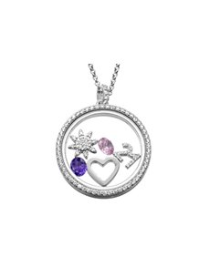 jewellery: Shiroko Silver Sun Locket Pendant Set!