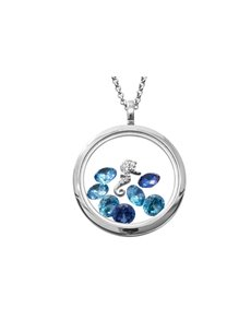 jewellery: Shiroko Silver Sea Horse Locket Pendant Set!