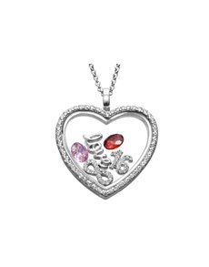 jewellery: Shiroko Silver Heart Infinity Locket Pendant Set!
