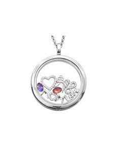 jewellery: Shiroko Silver Circular Locket Pendant Set!
