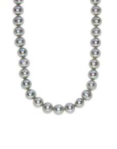jewellery: Fresh Water 8mm Grey Pearl Necklace!