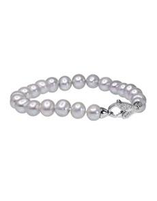 jewellery: Fresh Water 8mm Grey Pearl Bracelet!