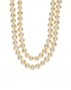 jewellery: Fresh Water 6mm WhitePearl Necklace!