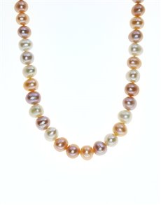 jewellery: Fresh Water 8mm Pastel Colours Pearl Necklace!