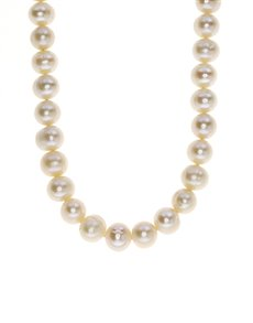 jewellery: Fresh Water 8mm White Pearl Necklace NJPC019!