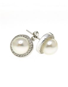 jewellery: Fresh Water 8mm White Pearl Earrings!