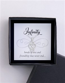 jewellery: Silver Infinity And Heart Necklace!