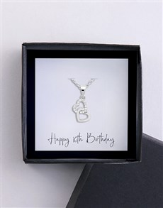 jewellery: Happy 16th Birthday Card And Necklace!