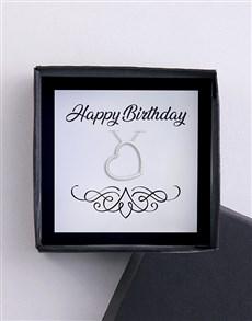jewellery: Happy Birthday Heart Necklace!
