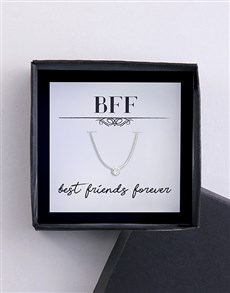 gifts: Best Friend Forever Silver Cubic Necklace!
