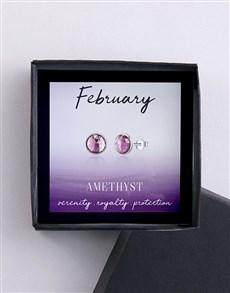 jewellery: February Birthstone Earrings!