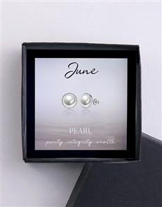 jewellery: June Birthstone Pearl Stud Earrings!