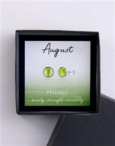 jewellery: August Birthstone Cubic Zirconia Stud Earrings!