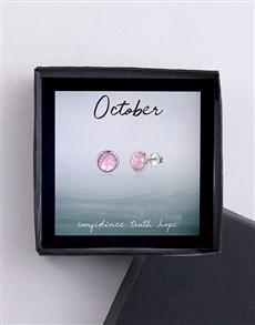jewellery: October Birthstone Cubic Zirconia Stud Earrings!