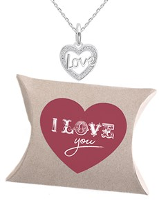 jewellery: Silver I Love You Necklace!