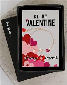 jewellery: Valentines Rose Silver Love Bracelet!