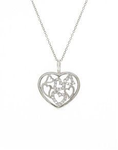 jewellery: Sterling Silver Open Heart Pendant!