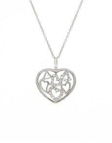 jewellery: Silver Open Multiple Hearts Cubic Pendant!