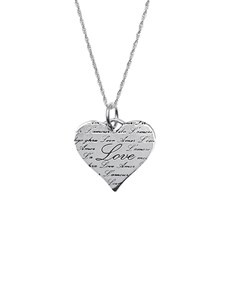 jewellery: Silver Engraved Love Necklace!