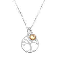 jewellery: Silver Tree of Life and Cubic Charm Necklace!
