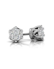 jewellery: WHY Sterling Silver Diamond Crown Studs!