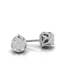 jewellery: WHY Silver Side Flower Design Diamond Studs!