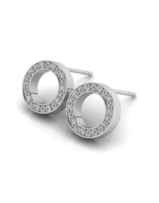 jewellery: WHY Sterling Silver Diamond Full Circle Earrings!