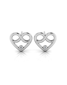 jewellery: WHY Silver Diamond Infinity Heart Earrings!
