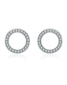 gifts: Open Circle Pave Silver Studs!