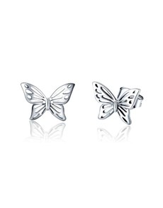 gifts: Butterfly Silver Studs!