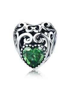 gifts: Green Filigree Heart Charm!