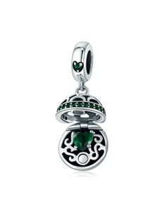 gifts: Green Heart Basket Charm!