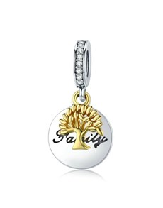 gifts: Gold Plated Family Tree Dangling Charm!