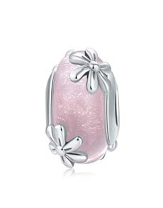 gifts: Pink Glass Flower Spacer Charm!