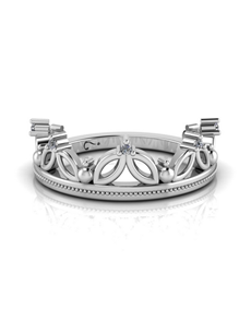 jewellery: WHY Sterling Silver and Diamond Crown Ring NJWN009!