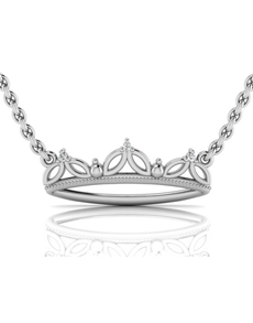 jewellery: WHY Sterling Silver and Diamond Crown Necklace!