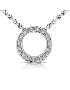 jewellery: WHY Sterling Silver Diamond Halo Pendant!