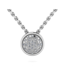 jewellery: WHY Sterling Silver Diamond Halo Necklace!