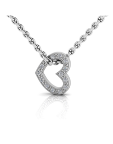 jewellery: WHY Sterling Silver Diamond Heart Necklace!