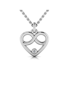 WHY Silver Diamond Infinity Heart Necklace