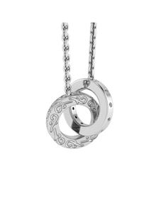 jewellery: WHY Sterling Silver Double Link Diamond Necklace!